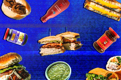 food sandwich international condiments