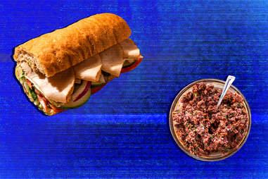 tapenade sandwich