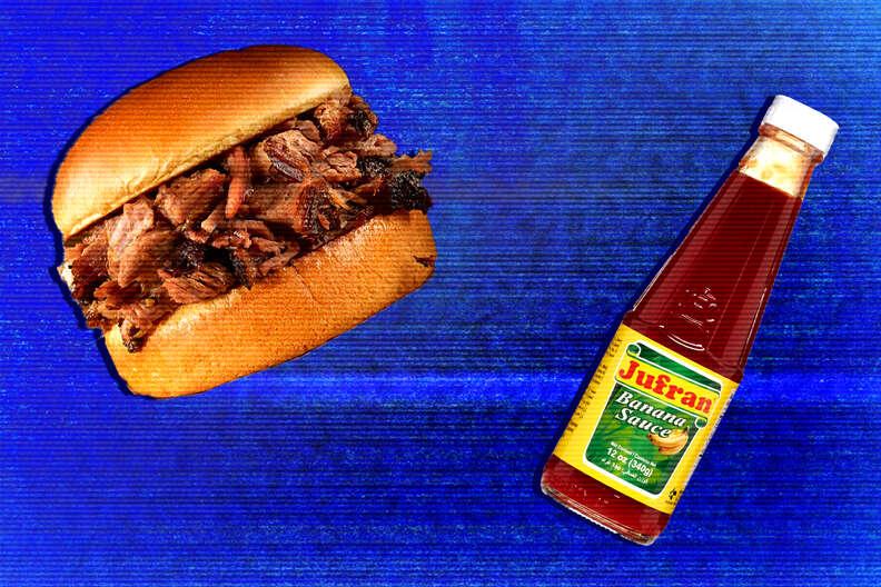 banana ketchup sandwich
