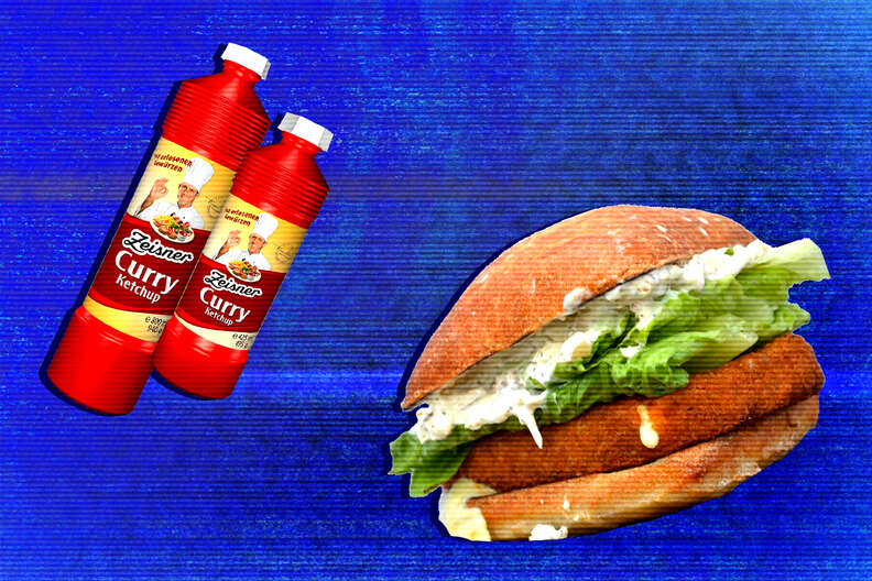 curry ketchup sandwich