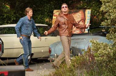 Pitt and DiCaprio in 'Once Upon a Time...in Hollywood'