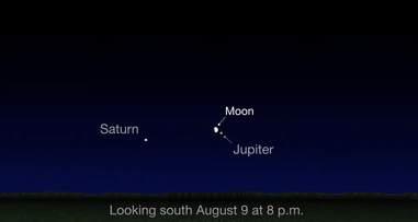 Jupiter and Moon close encounter