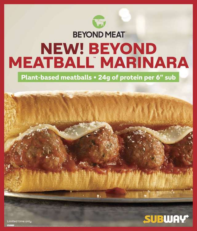 Beyond Meat Meatless Meatball Sub
