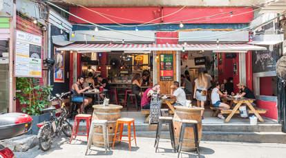 Eatery in shuk hacarmel market