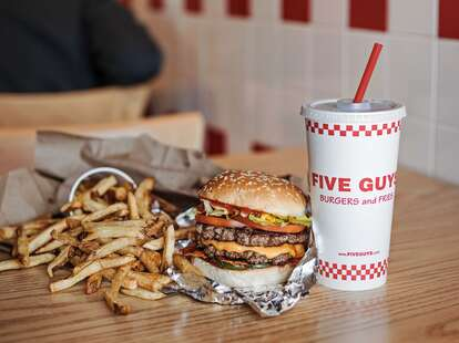 five guys burgers and fries fast casual cheeseburger cheese fresh chain national