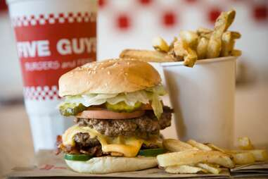 five guys burgers and fries fry frie burger cheese cheeseburger fast casual what to order