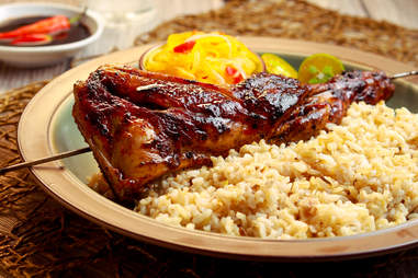 Delicious Chicken Inasal with rice. Filipino cuisine