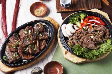 Korean food, LA Galbi and Bulgogi