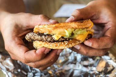 patty melt pattymelt five guys burgers and fries burger cheese gooey