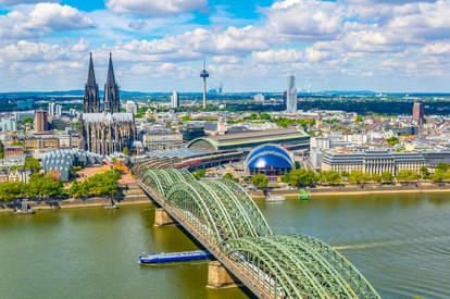 Hohenzollern bridge over Rhein, Germany