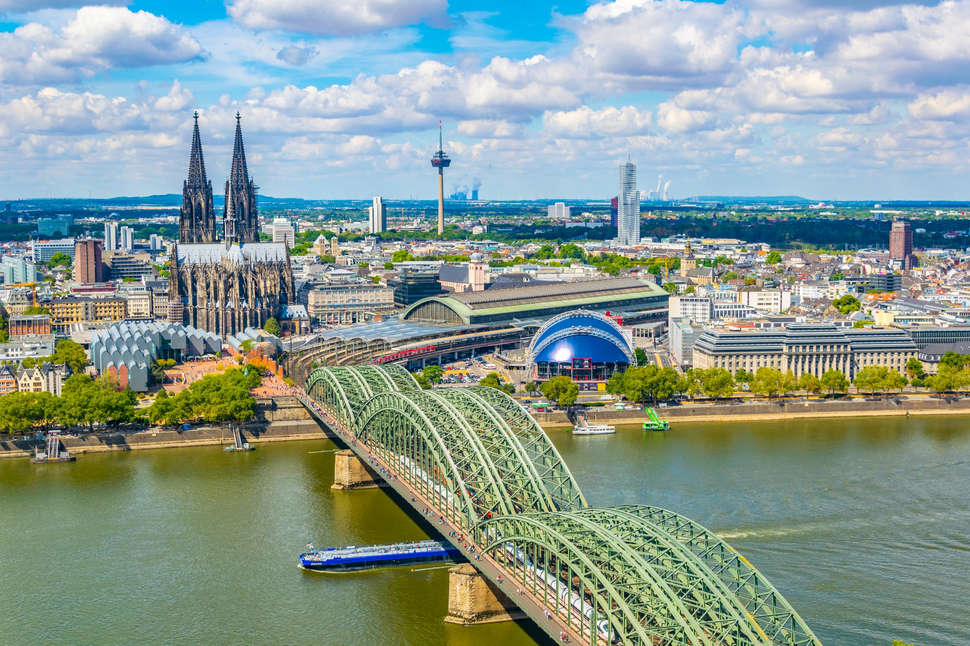 Hohenzollern bridge over Rhein, Germany