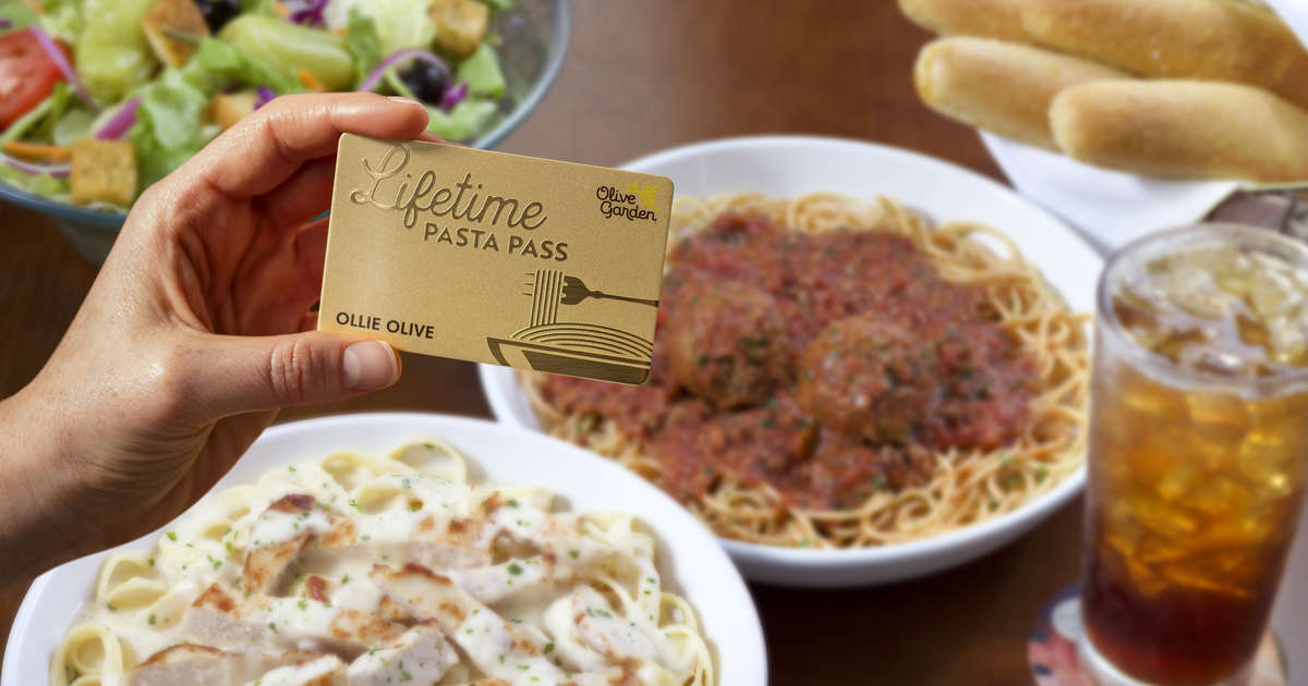 Olive Garden Lifetime Pasta Passes 2019 How To Get Unlimited Free