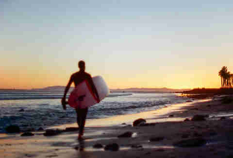 surfer on ventura beach