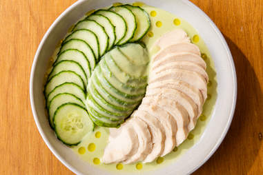 Coast and Valley poached chicken