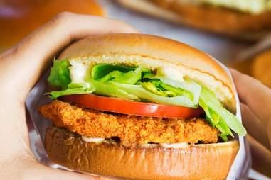 burger king crispy chicken sandwich
