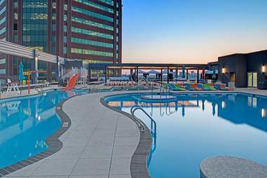 The Rooftop Pool at Merritt Clubs
