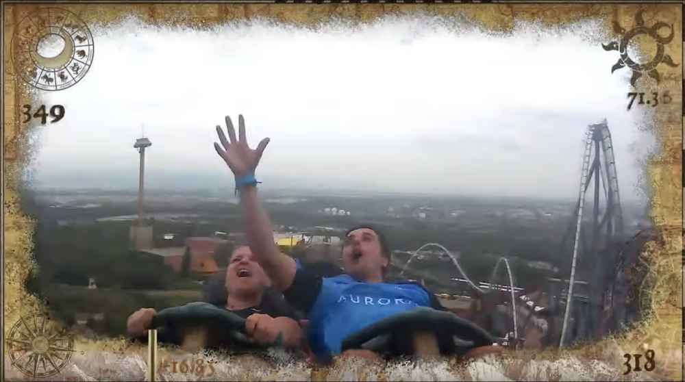Man Somehow Catches Stranger's Phone Mid-Air on Roller Coaster