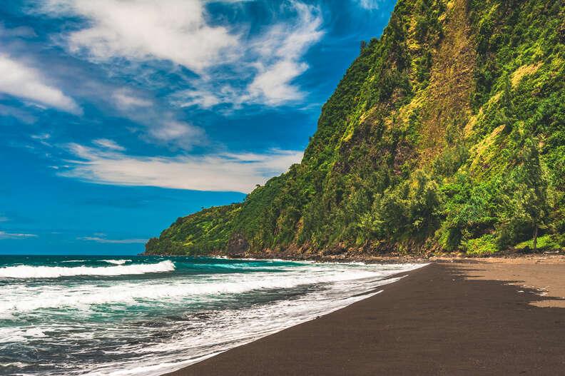 Waipio Black Sand Beach