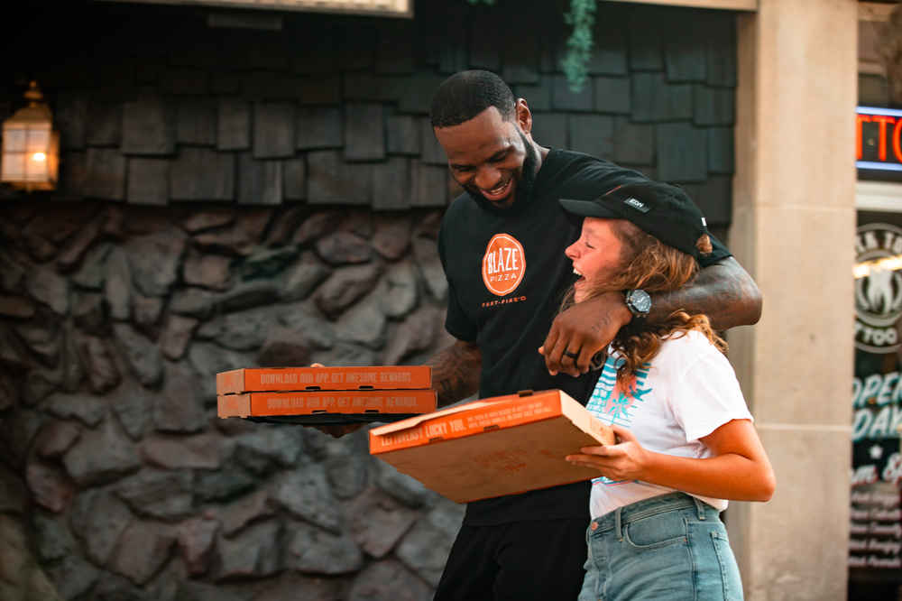 LeBron James' Blaze Pizza Is Taking on Domino's With New Delivery, Bigger Pies