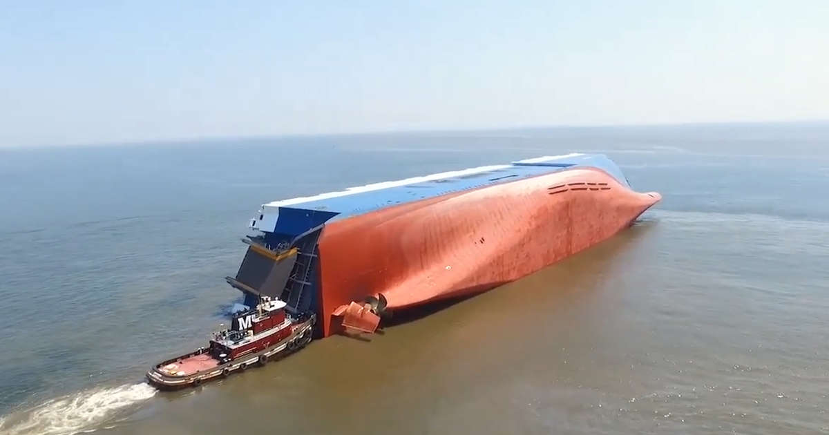 4 Crew Members Are Missing From Massive Overturned Cargo