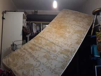 cats knock down mattress