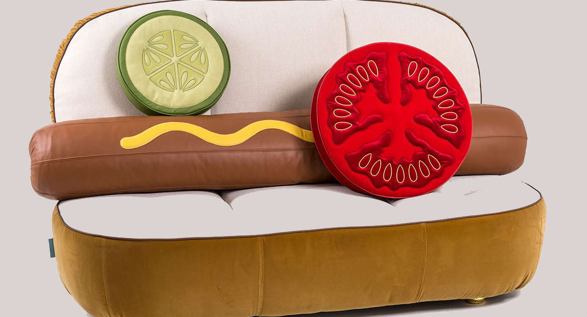 Twitter Has a Lot of Thoughts About this $7,100 Hot Dog Couch