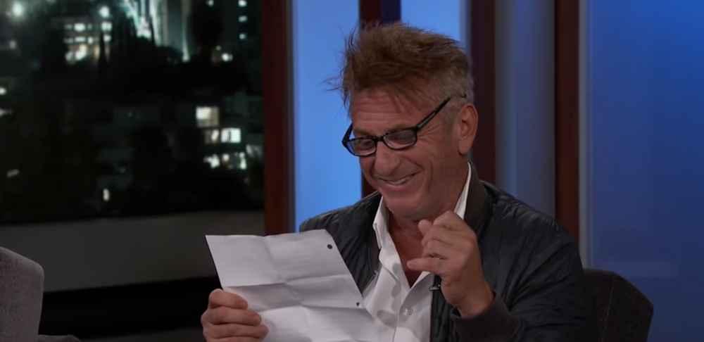Sean Penn Did an Impromptu 'Mean Tweets' on Kimmel