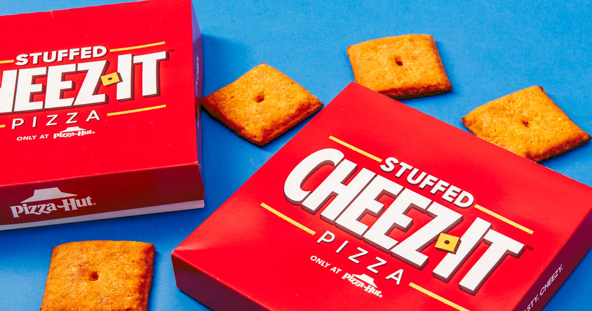 Pizza Hut's New Cheez-It 'Pizzas' Look Like Giant Cheez-Its