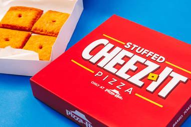 pizza hut cheez it pizzas