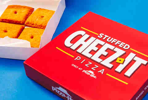pizza hut cheez it pizzas