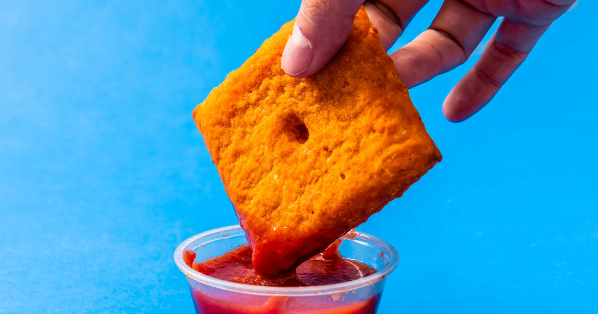Does Pizza Hut's New Cheez-It 'Pizza' Go Too Far? We Tried It and Found Out.