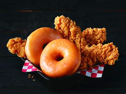 kfc chicken and donuts