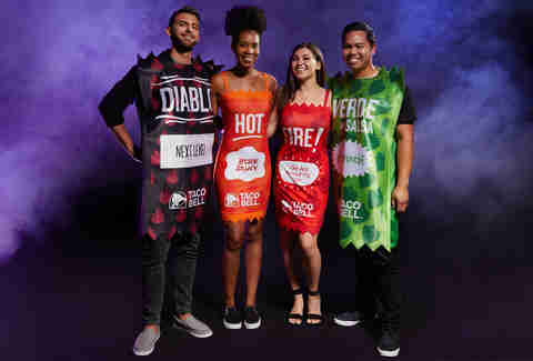 taco bell halloween costumes hot sauces