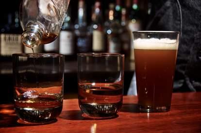 liquor being poured