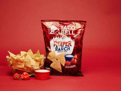 taco bell reaper ranch tortilla chips