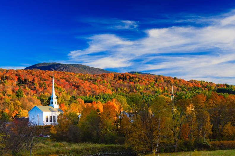 Stowe, Vermont fall foliage