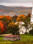 fall foliage in peacham vermont