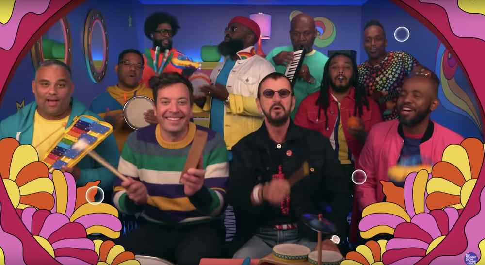 Ringo Starr Sang 'Yellow Submarine' on Classroom Instruments With Jimmy Fallon & the Roots