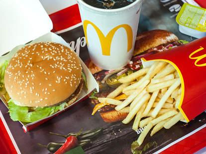 mcdonald's burger fries drink plant based