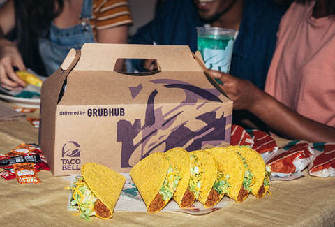 taco bell party pack grubhub tacos