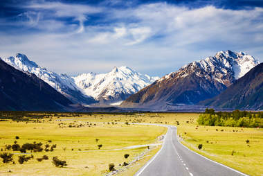The Southern Alps of New Zealand