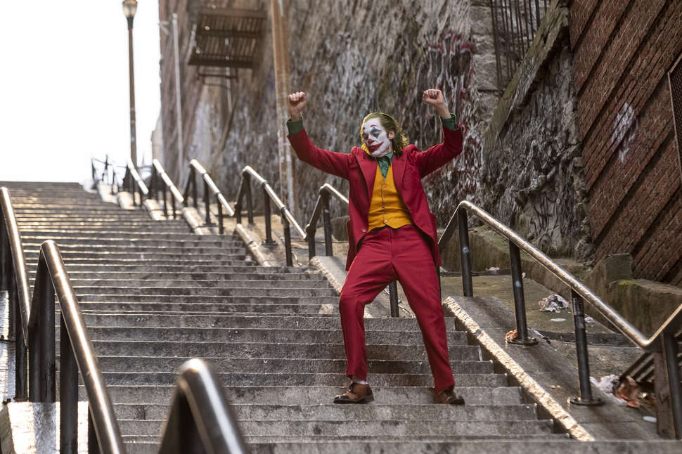 39 joker 39 movie gary glitter song in stairs scene ignites. Black Bedroom Furniture Sets. Home Design Ideas