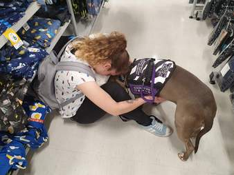 pit bull saves mom's life