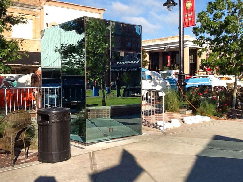 Public Glass Restrooms on the Square in Sulphur Springs Texas