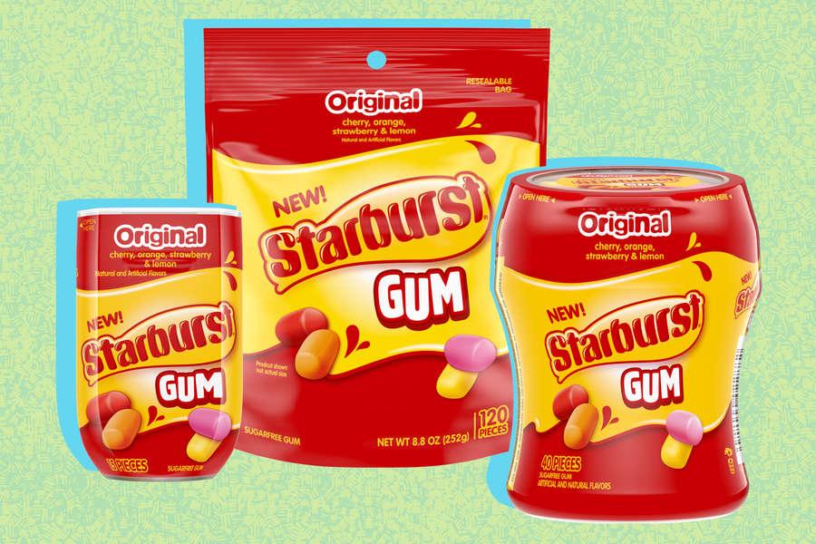 Starburst Is Making Super-Juicy Gum in All 4 Flavors