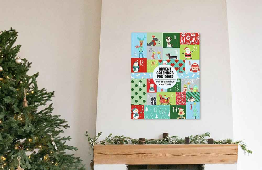 This Advent Calendar for Your Dog Comes Stuffed With 55 Grain-Free Treats