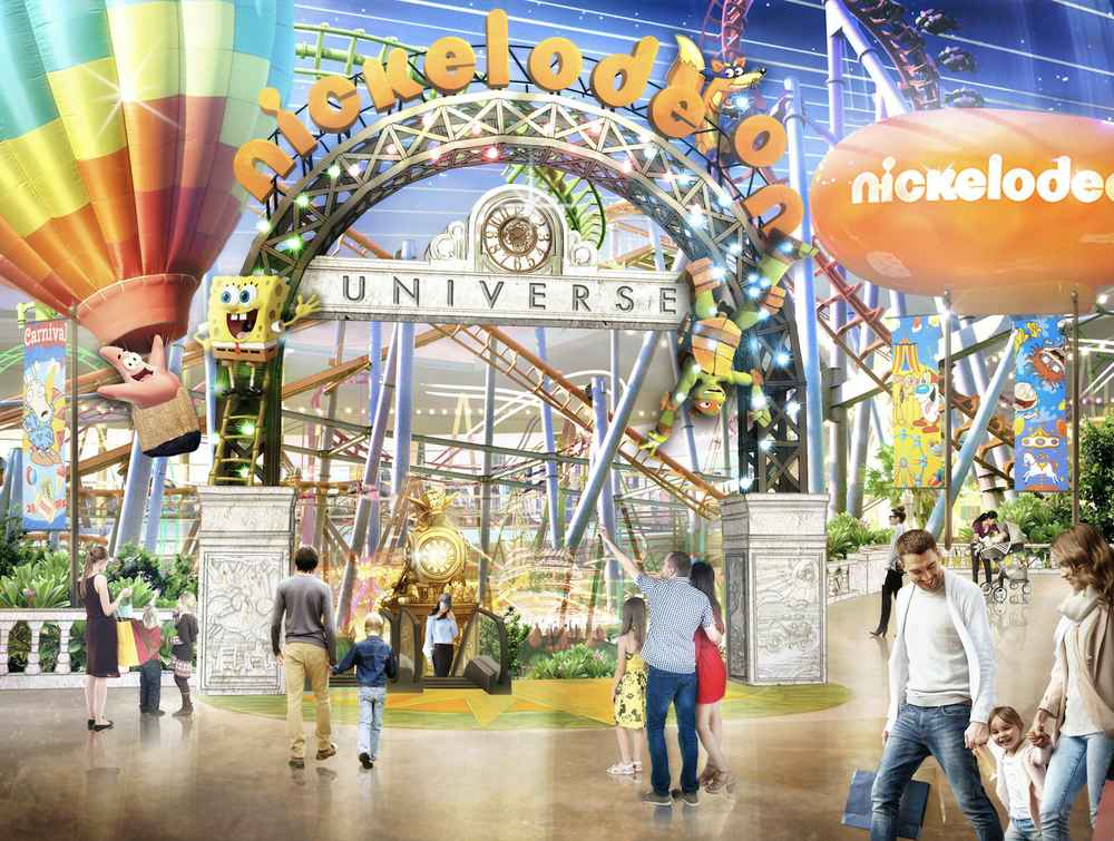 Nickelodeon Universe, the Largest Indoor Theme Park in North America, Opens Friday