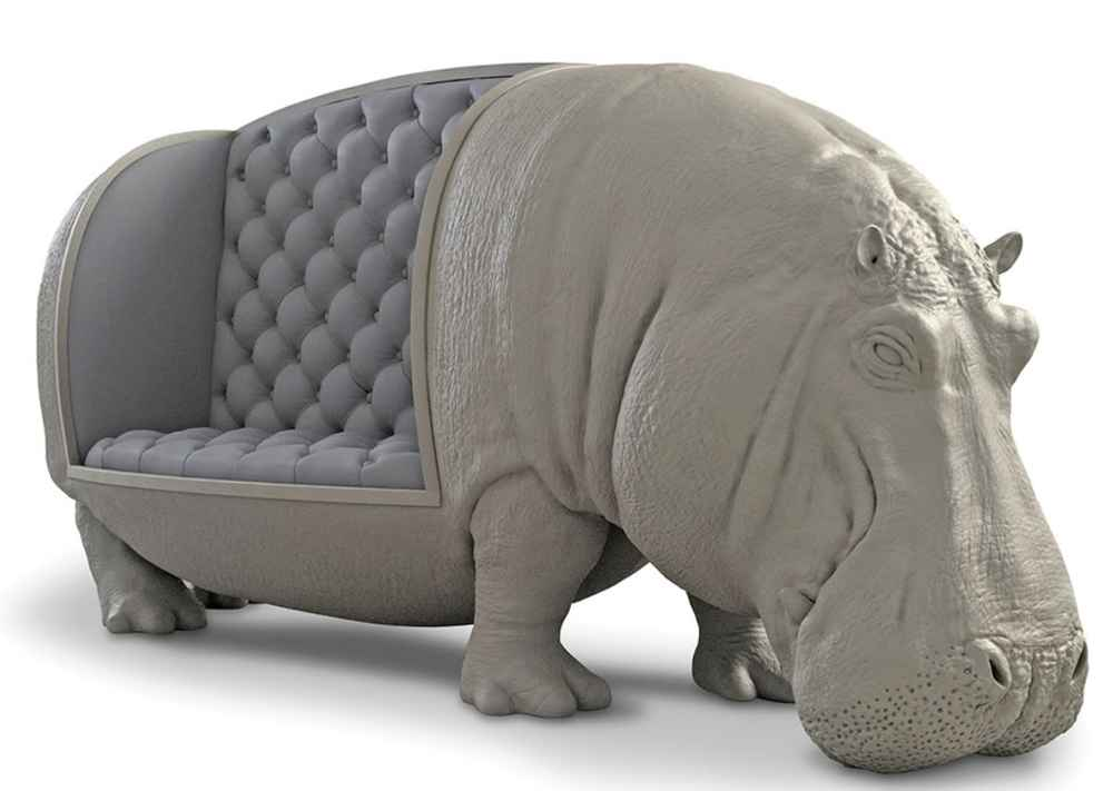 What? You Think You're Too 'Practical' for This $95,000 Hippopotamus Couch?