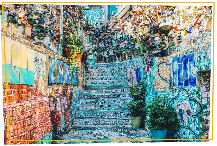Best Places To See Mosaic Art In Philadelphia Magic Gardens