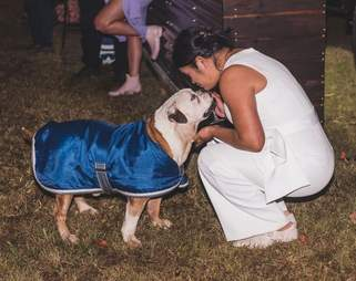 Bride forgives dog for peeing on her